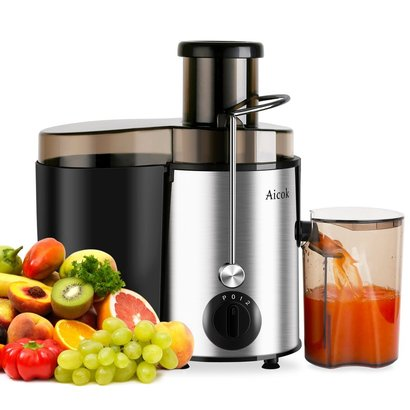 aicok juicer juice extractor high speed for fruit and vegetables dual speed setting centrifugal fruit machine powerful 400 watt with juice jug and cleaning brush