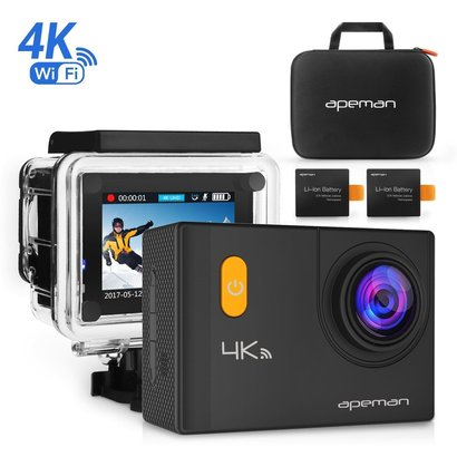 apeman a80 4k action camera wifi 20mp waterproof underwater cam ultra 170 angel 2 inch lcd display