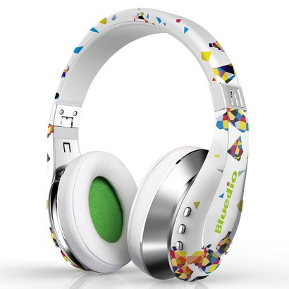 bluedio a (air) stylish wireless bluetooth headphones with mic (white)