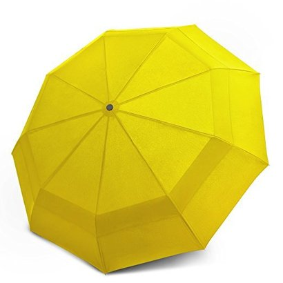 eez-y compact travel umbrella windproof double canopy construction - auto open close