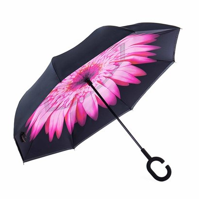 newsight reverse inverted double layer waterproof straight umbrella