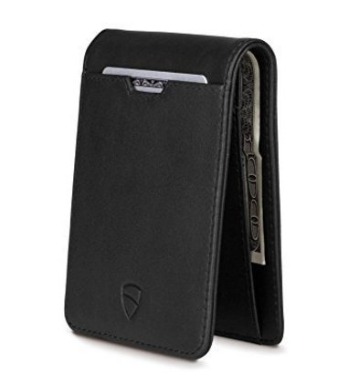 vaultskin manhattan slim bifold wallet with rfid protection for cards and cash ultra thin front pocket holder italian leather