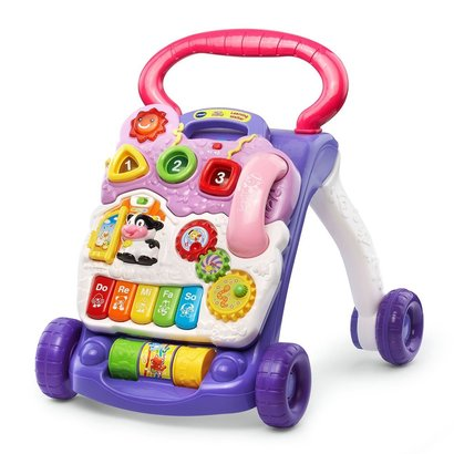 vtech sit-to-stand learning walker lavender (frustration free packaging)