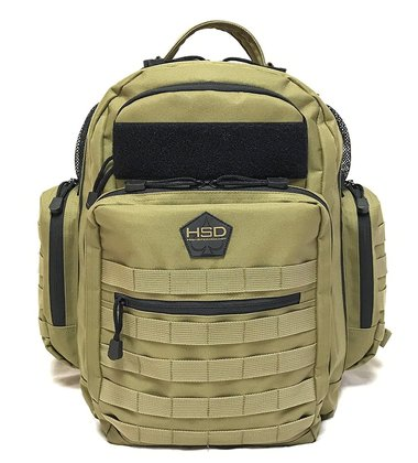 hsd tactical diaper bag multi-use backpack changing pad insulated pockets stroller straps