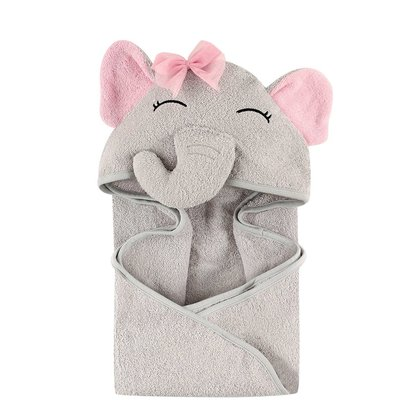 hudson baby 3D animal face hooded towel