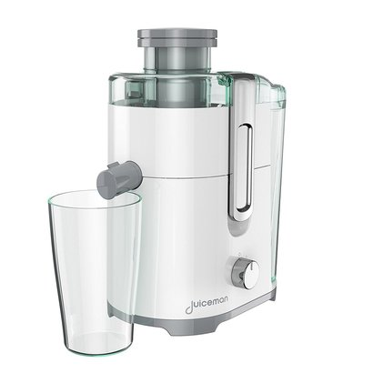 juiceman jm250 compact 2 speed juicer with 16 oz. juice cup and 48 ounce integrated pulp container powerful 400w motor
