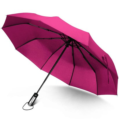 rainlax unbreakable automatic compact canopy umbrella travel windproof 10 powerful fiberglass ribs umbrella lightweight