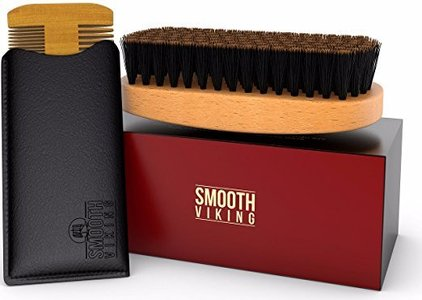 smooth viking beard comb and brush set premium beard and mustache grooming kit for good facial hair