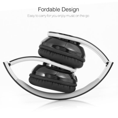 dylan wireless v4.1 bluetooth foldable headphones hi-fi stereo over-ear headset with 3.5mm audio jac mic for smart phones and tablets