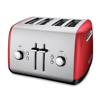 kitchenaid 4 slice toaster with manual high-lift lever and 5 settings shade control