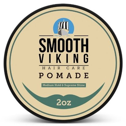 smooth viking hair care pomade-medium hold and supreme shine hair styling formula for men 2 oz
