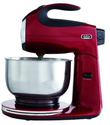 sunbeam fpsbsm2104 heritage series 350-watt stand mixer with 12 variable speed settings and 3-way mixing action