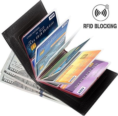 aprince top grain cowhide genuine leather rfid blocking wallet with 24 card slots and coin purse
