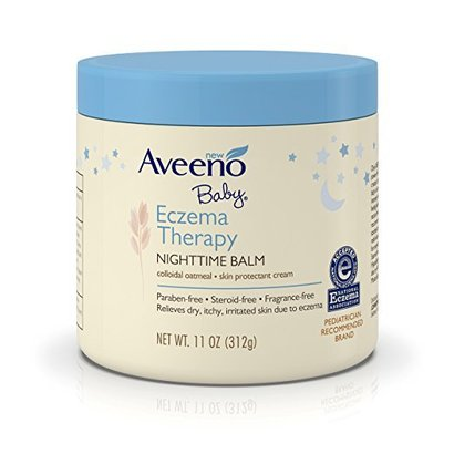 aveeno baby eczema therapy nighttime balm protects and helps relieve skin irritation and itching