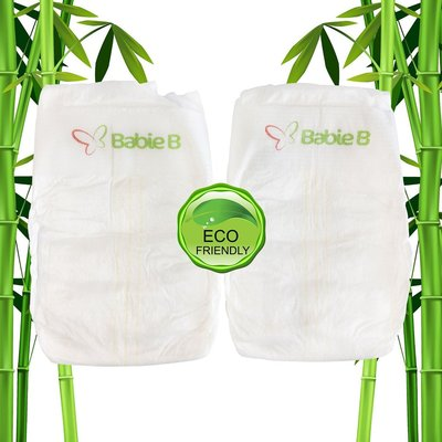 babie b naturally organic bambo eco-friendly luxury diapers 120 small nappies for infant