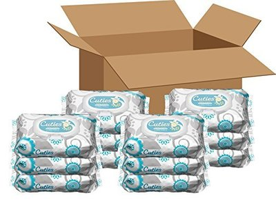 cuties sensitive and unscented baby wipes 12 pack 72 wipes in each pack total 864 wipes