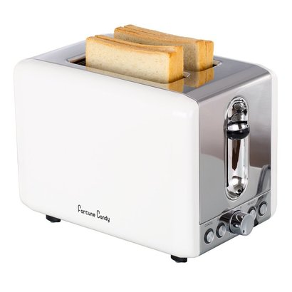 fortune candy kst009 2 slice extra wide slot toaster with high lift lever and 6 shade settings