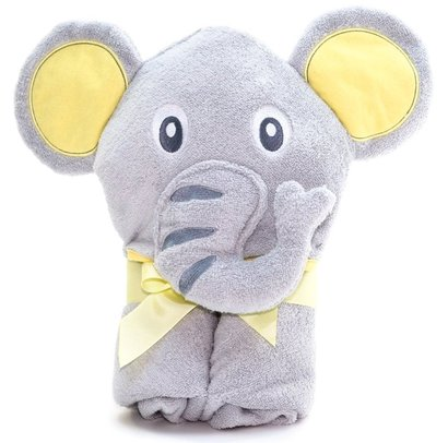 little tinkers world elephant hooded baby towel large 30x30-inch cotton towel