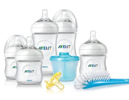 philips avent scd296/02 bpa-free natural newborn starter gift set
