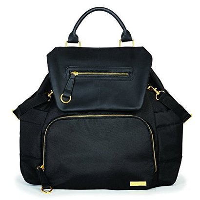 skip hop chelsea downtown chic diaper backpack with adjustable straps and convenient top handle