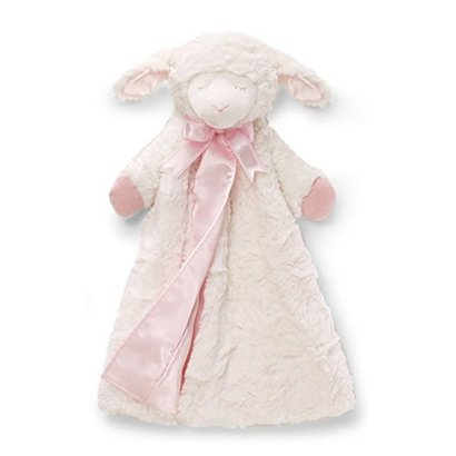baby gund winky lamb huggybuddy 17 inch baby blanket in pink color