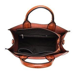 cocifer women leather top handle satchel handbags with detachable shoulder strap