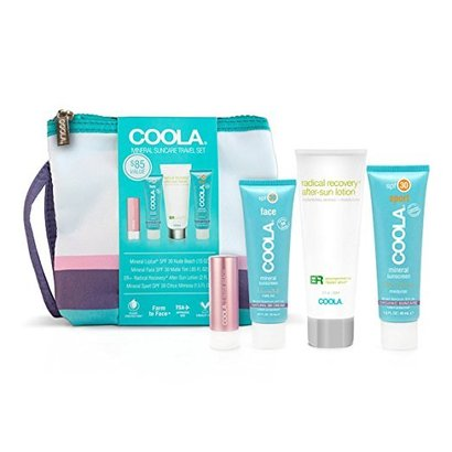 coola 4 piece signature mineral suncare travel set