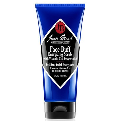 jack black face buff energizing scrub with vitamin c and menthol, deep-cleaning pre-shave cleanser and scrub