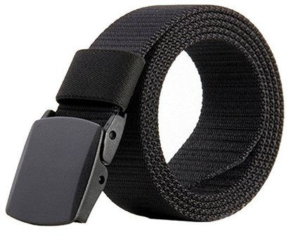jasgood military tactical nylon breathable men belt with plastic buckle