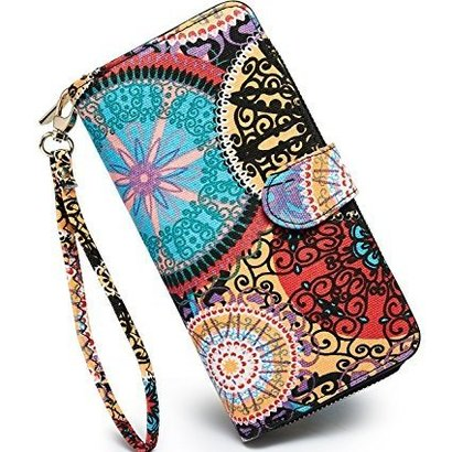 loveshe women's bohemian style clutch wallet
