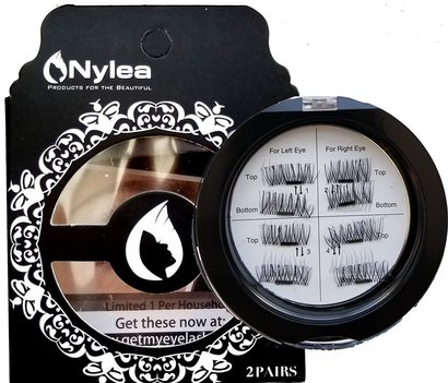 nylea 8x magnetic eyelashes easy to use no glue and mess 3d reusable use 25 times