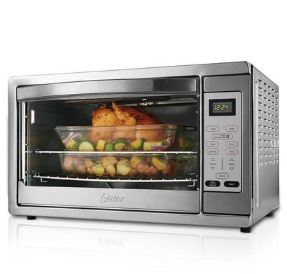 oster digital countertop oven with convection bake two rack positions and two baking racks model number tssttvdgxl-shp