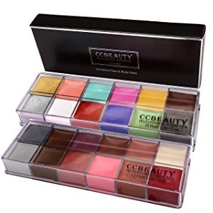 ccbeauty professional makeup set 24 colors face and body paint oil