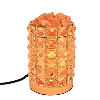 decolighting hy 02 himalayan salt lamp natural salt crystal in acrylic diamond cylinder with wooden base