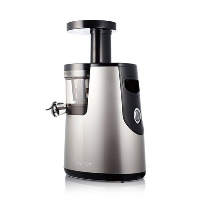 hurom hh-sbb11 elite slow juicer with quiet motor of 43 rpm includes fine and coarse strainer
