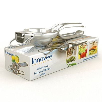 innovee home 18/10 stainless steel lemon squeezer, manual citrus juicer press includes free lemon recipes e-book