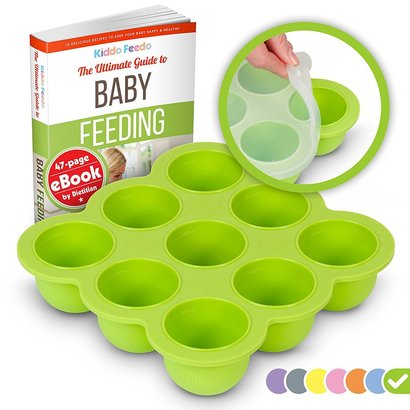 kiddo feedo freezer tray easy for release and cleaning includes free baby feeding ebook