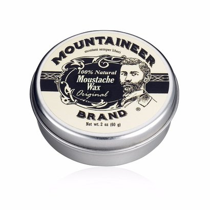 mountaineer brand 100% natural mustache wax 2oz