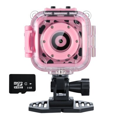 ourlife kids action waterproof camera includes 8gb memory card great gift for 4 to 12 years old kids