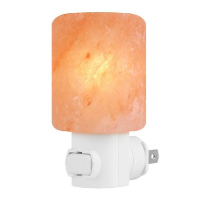 syntus natural himalayan crystal salt lamp air purification with 360 degrees adjustable ul listed plug