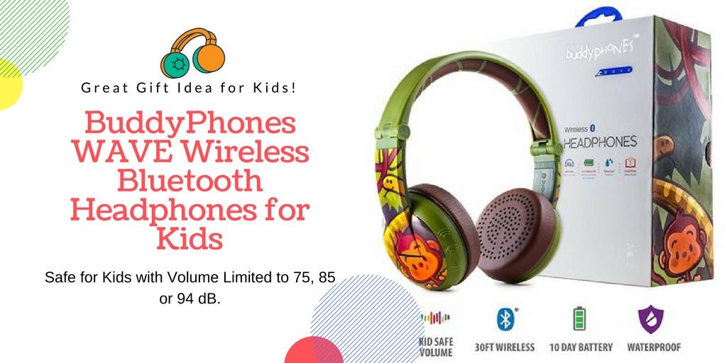 BuddyPhones WAVE Wireless Bluetooth Headphones for Kids