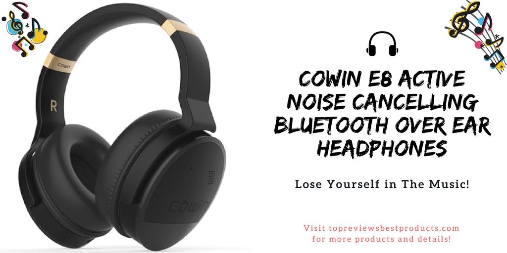COWIN E8 Active Noise Cancelling Bluetooth Over Ear Headphones