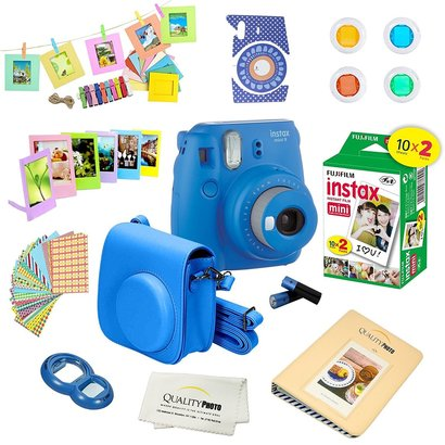 fujifilm instax mini 9 camera bundle with 12 fun accessories