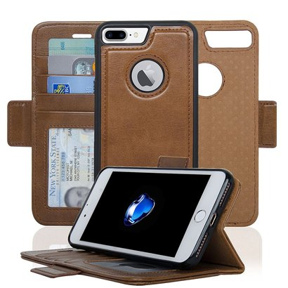 navor iphone 7 plus and iphone 8 plus detachable magnetic housing wallet case with card slots and money pocket