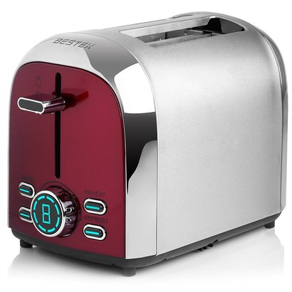 bestek 2 slice toaster with 7 level shade controls and 4 modes setting