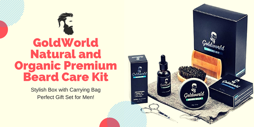GoldWorld Natural and Organic Premium Beard Care Kit