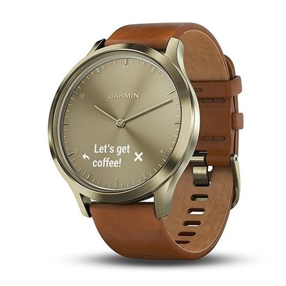 garmin vívomove hr stylish hybrid smartwatch with a discreet display and precision watch hands