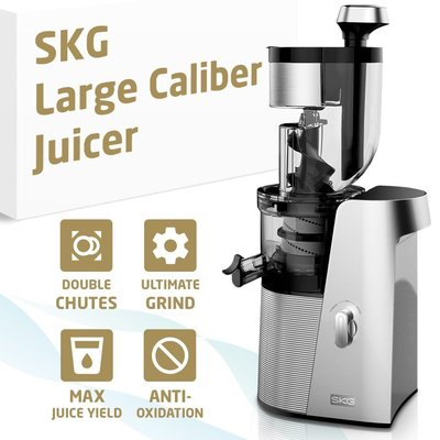 "skg tritan materials large caliber juicer with powerful 250w ac motor and two openings 3.15""-1.75"""