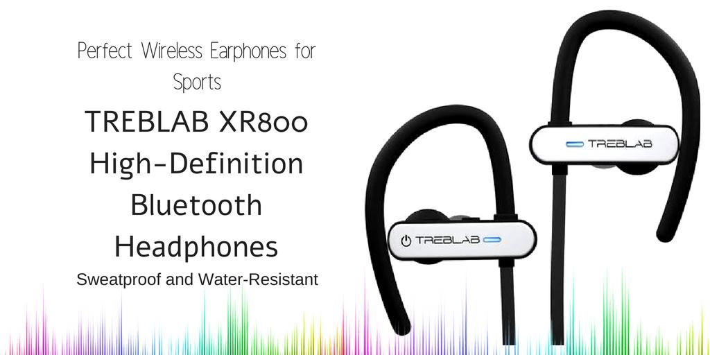 TREBLAB XR800 Sweatproof and Water-Resistant Earphones