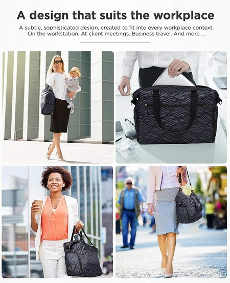discretely carry your breast pump, milk bottles, cooler pack and pumping accessories - design that suits the workplace